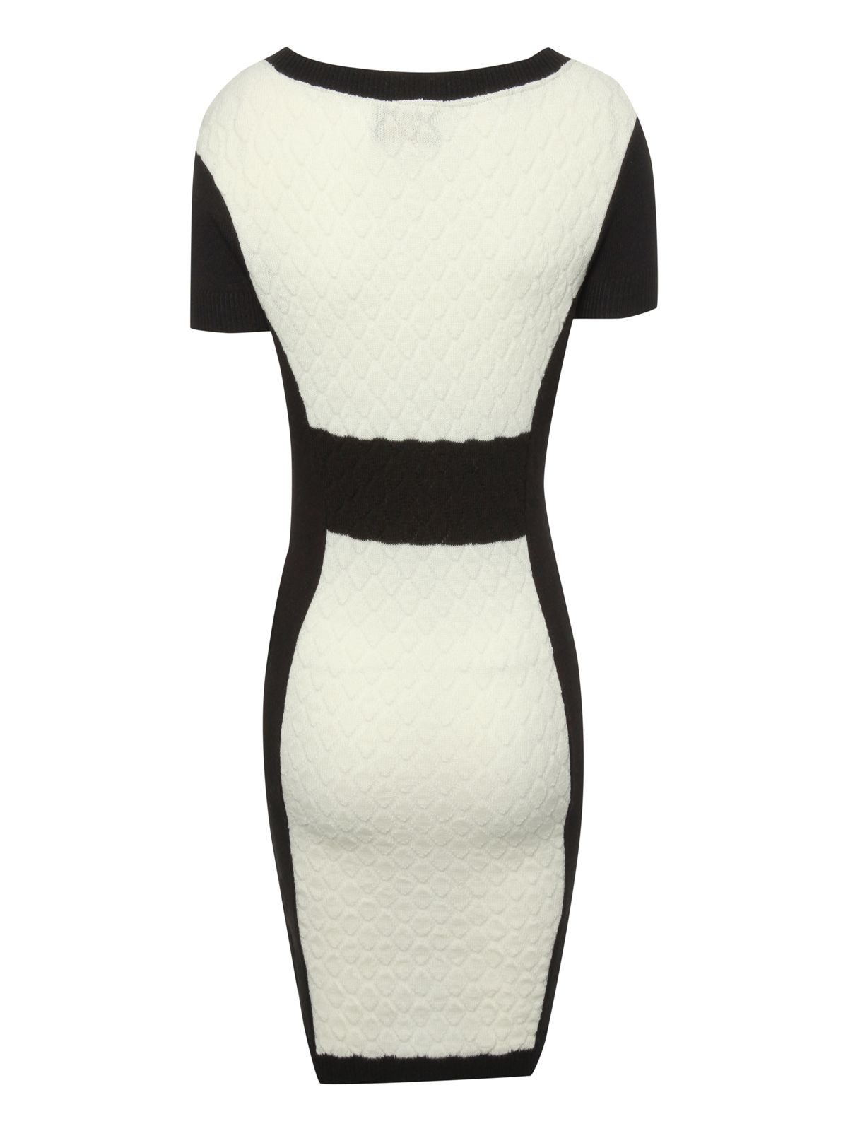 Quilted bodycon jumper dress