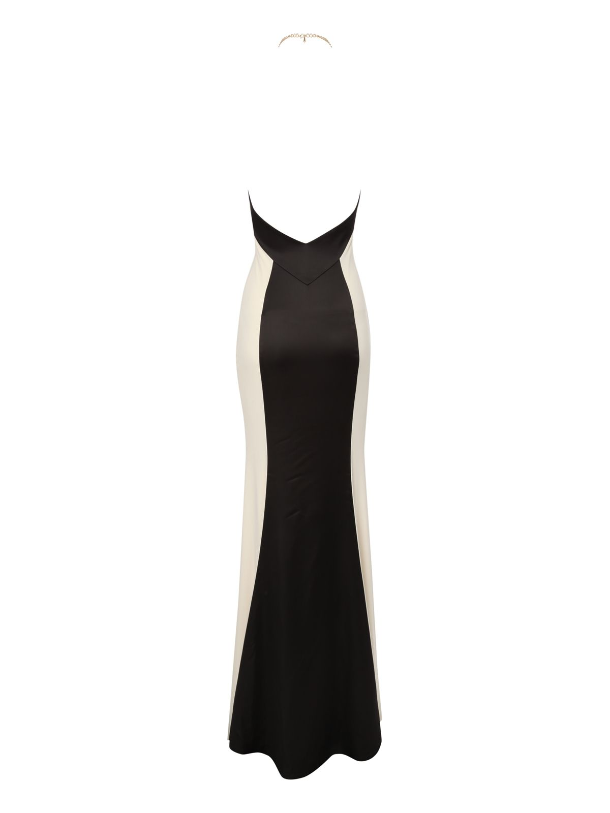 Monochrome halter neck maxi dress