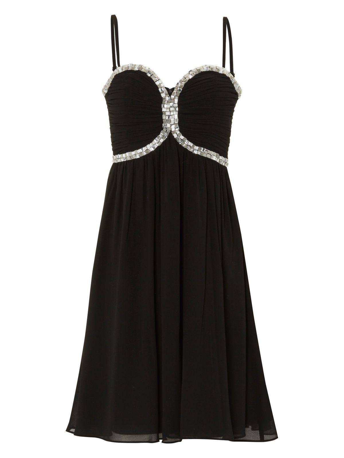 Sweetheart embellished prom dress