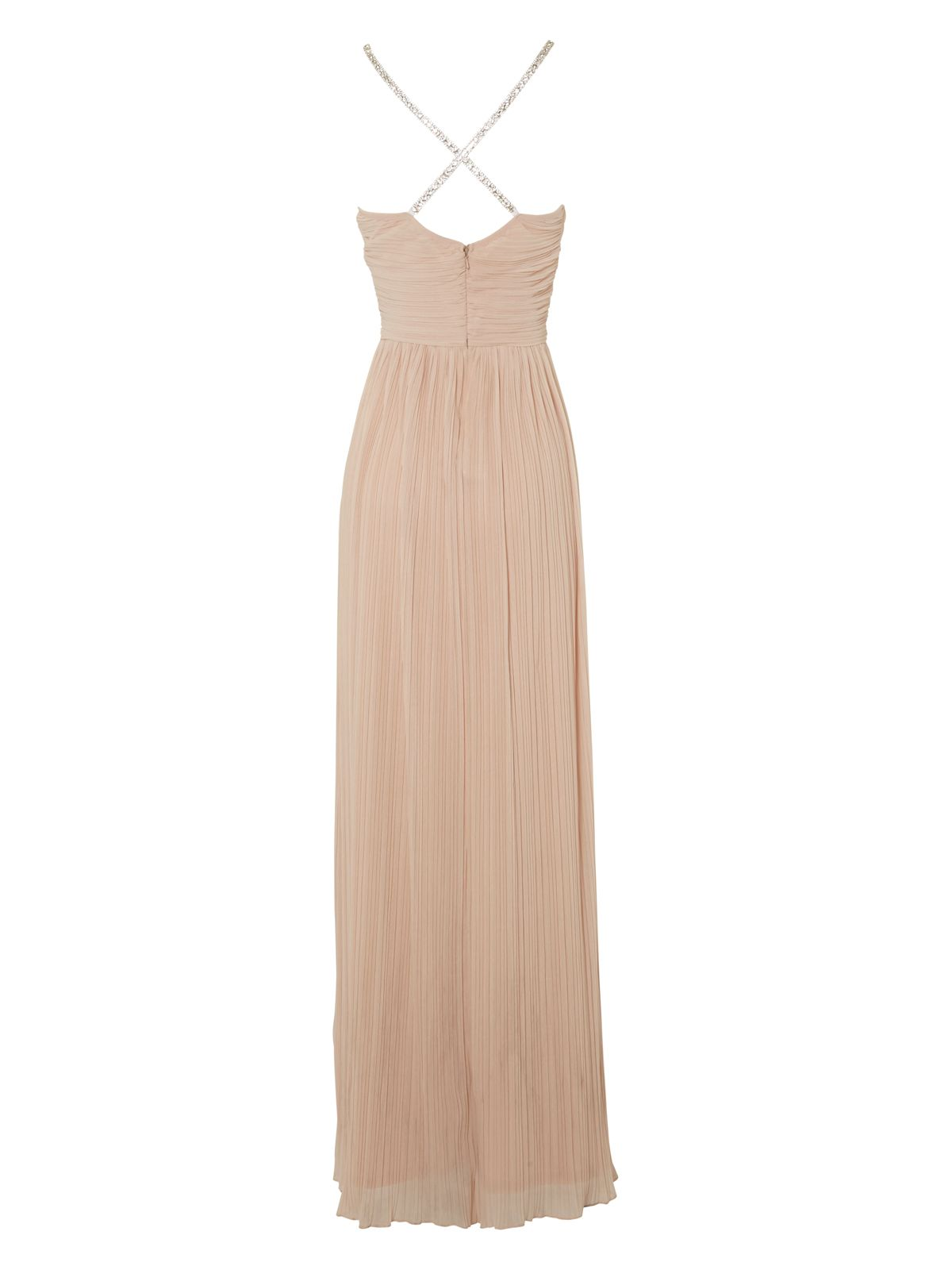 Diamante strap maxi dress