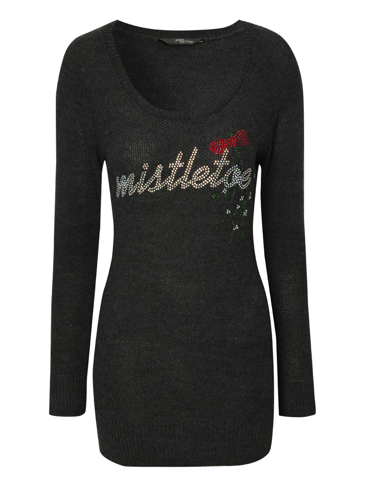 Diamante Mistletoe Jumper
