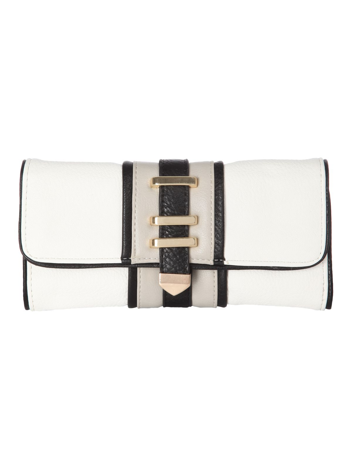 Colour Block Long Purse
