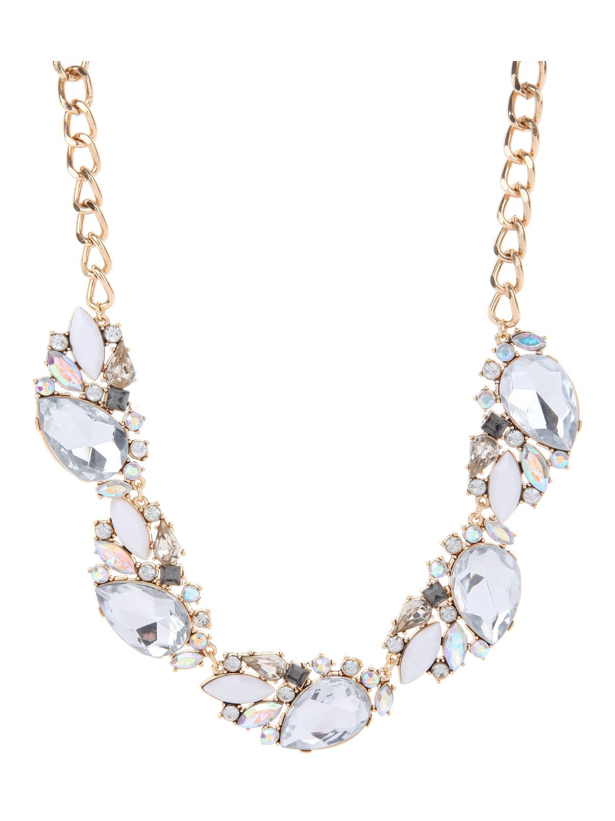 Teardrop Diamante Necklace