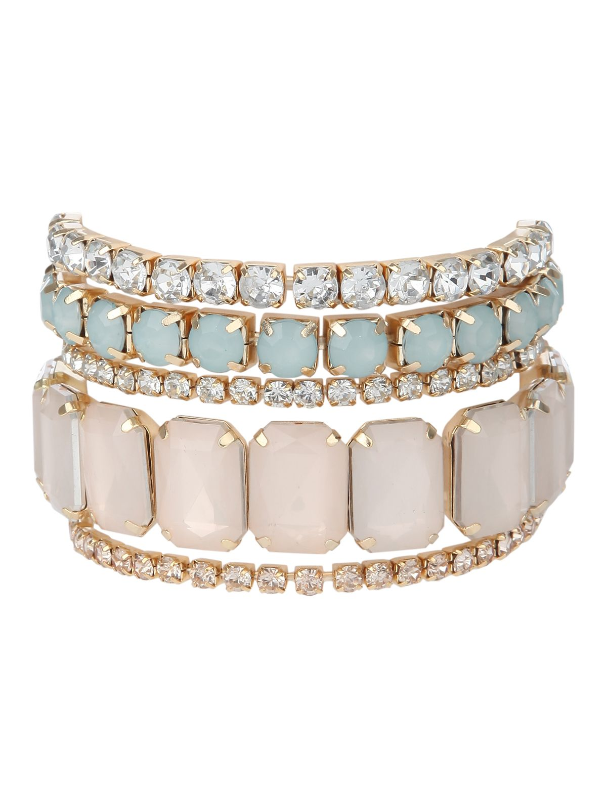 Gem and Diamante Multi Pack Bracelets