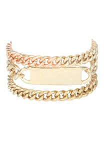Gold Chunky Chain Tag Bracelet