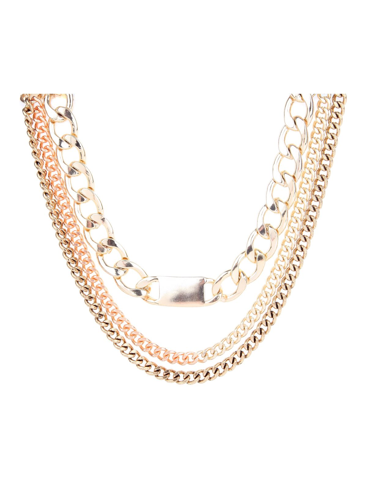 Chunky Chain Tag Necklace