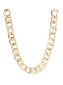 Chunky chain statement hammered necklace