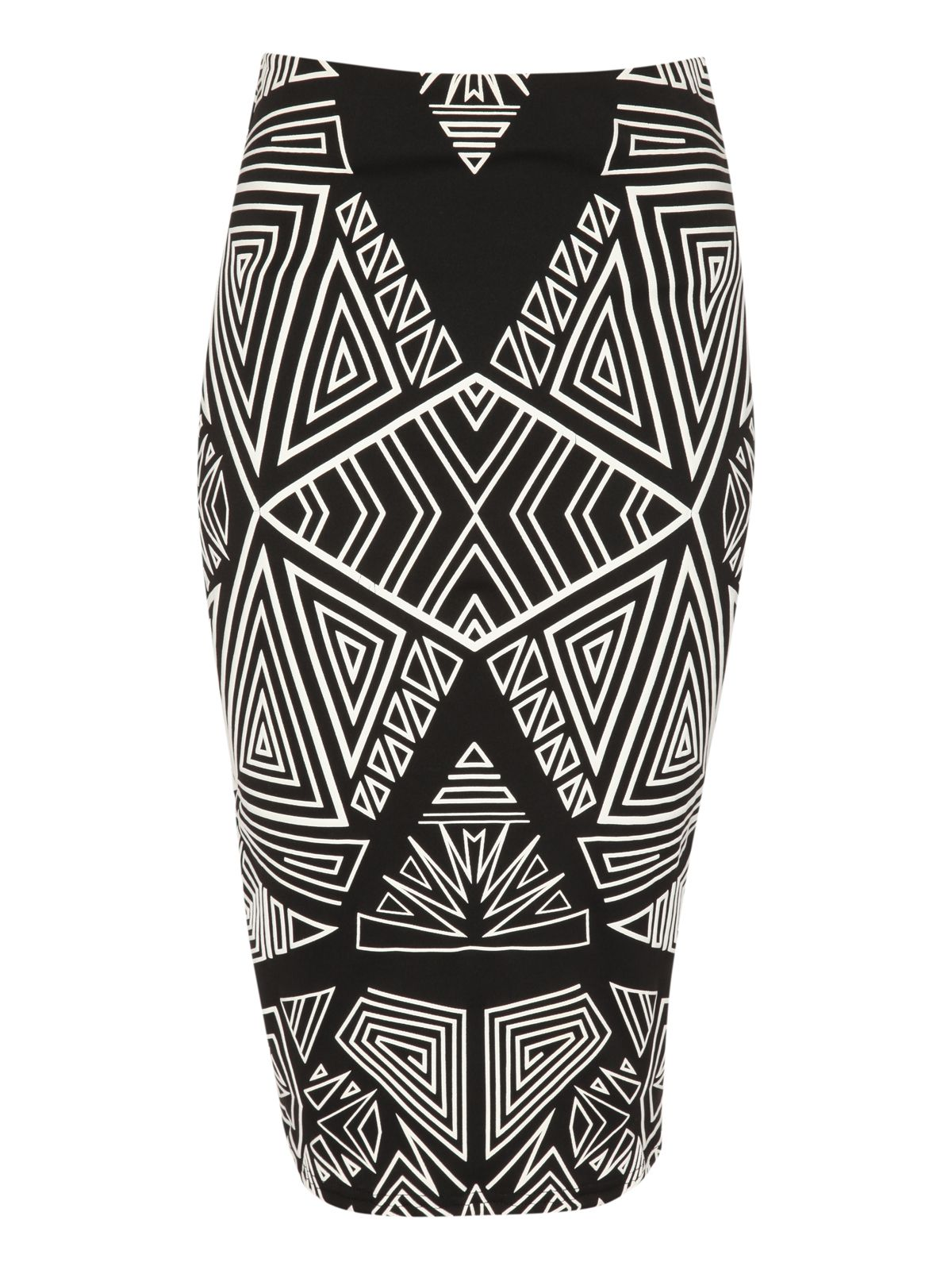 Puff print pencil skirt