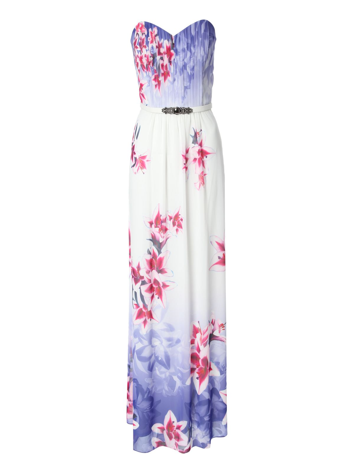 Dress lori printed bandeau maxi