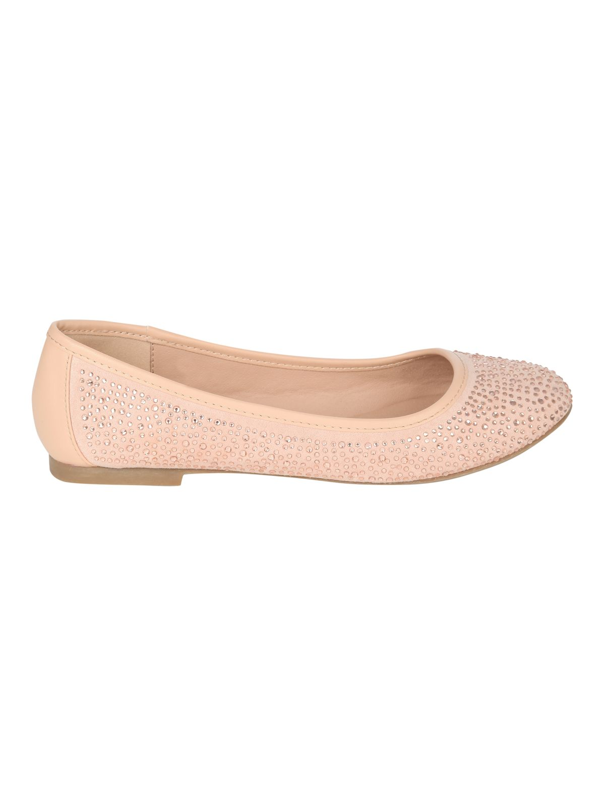 Diamante embellished ballet pumps