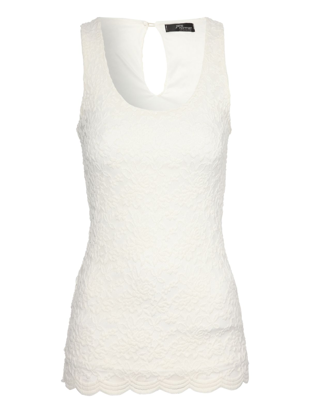 Sleeveless lace vest top