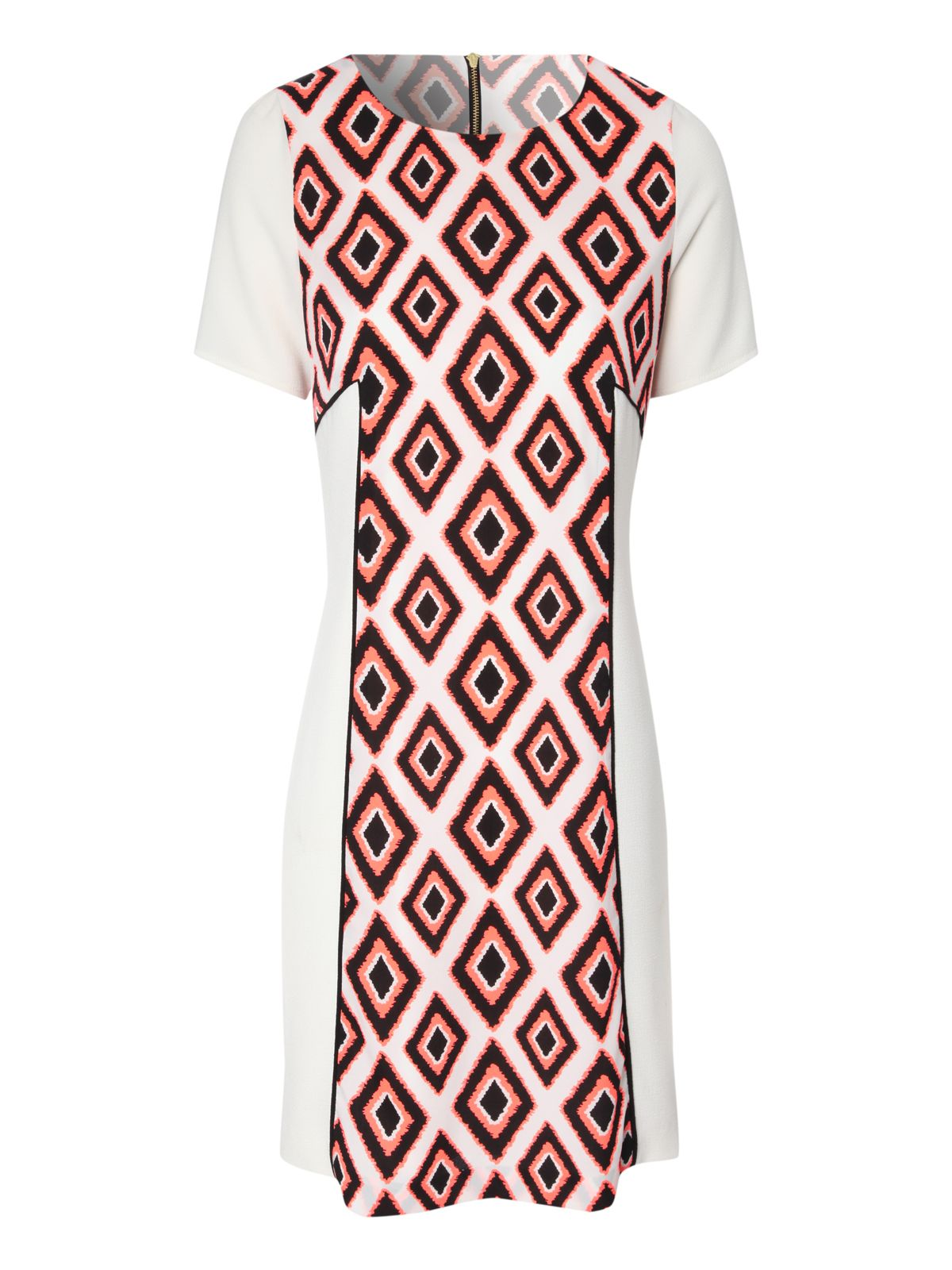 Diamond tribal print shift dress