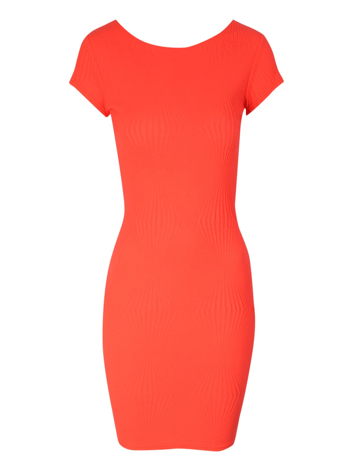 Neon texture bodycon dress