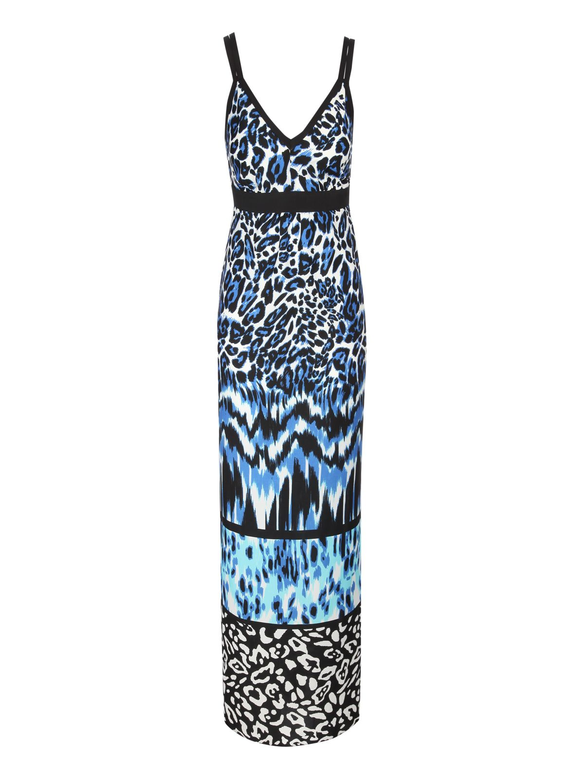 Tiered animal print maxi dress