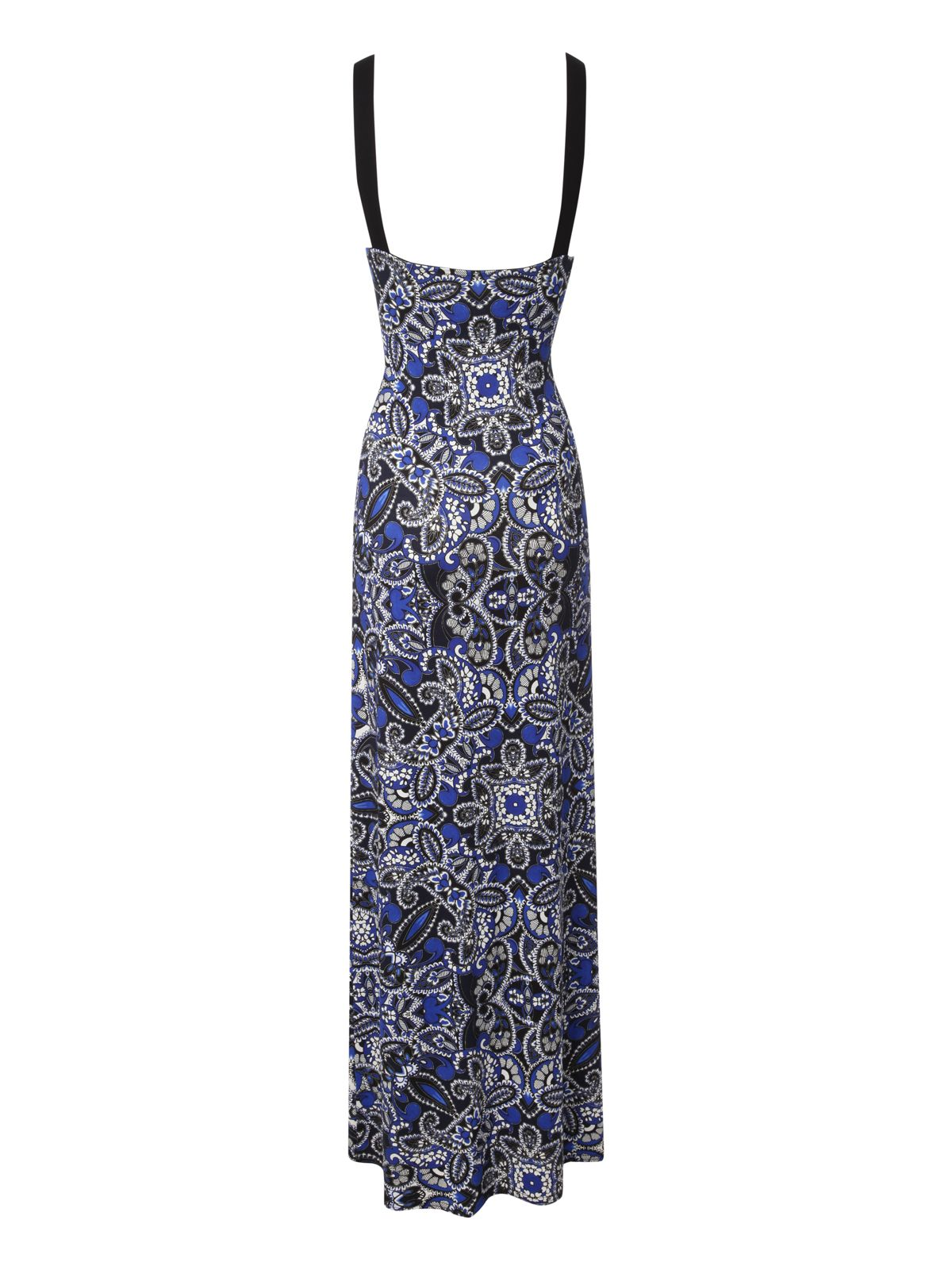 Printed cross bust maxi dress