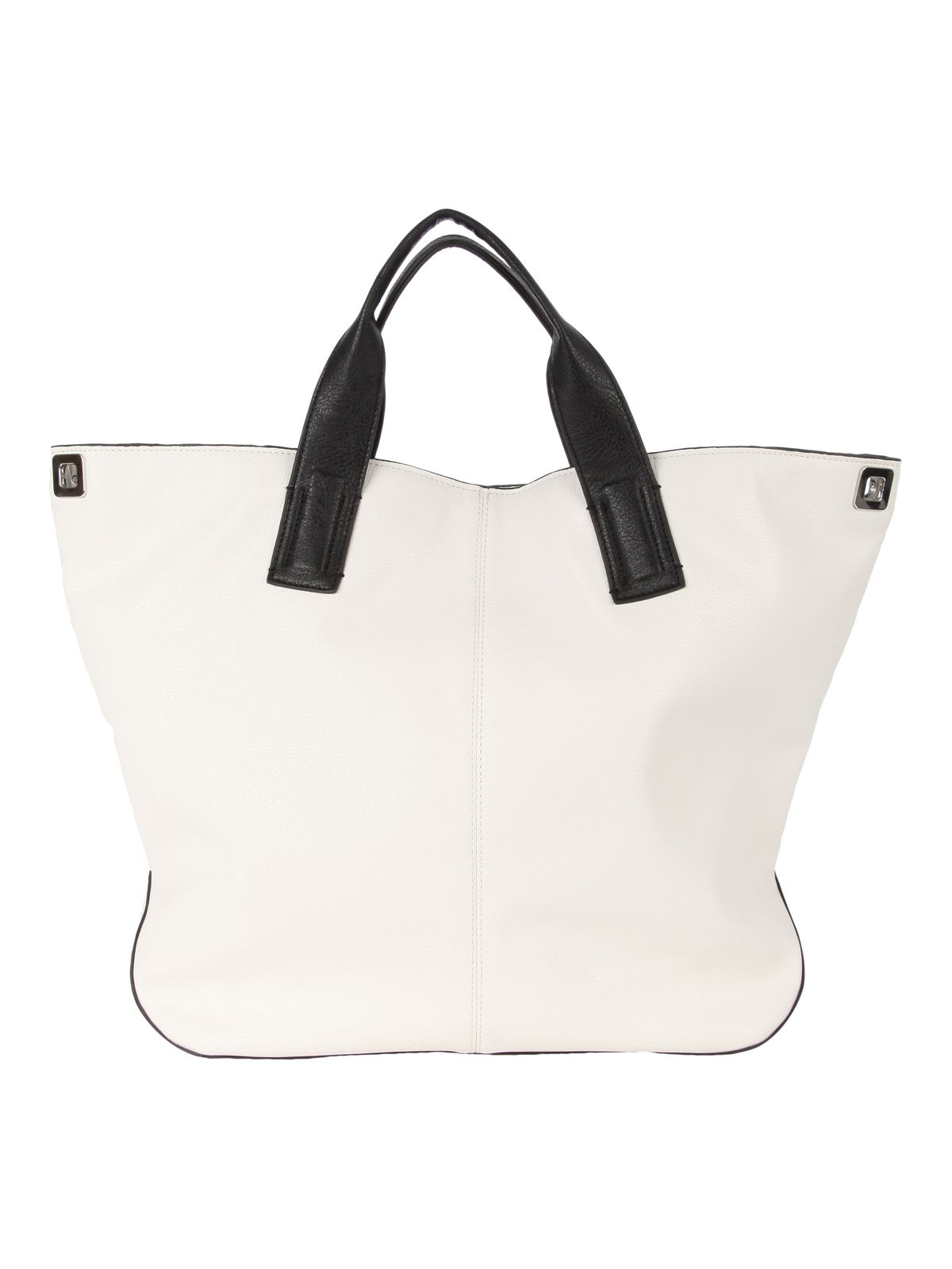 Monochrome Slouch Beach Bag