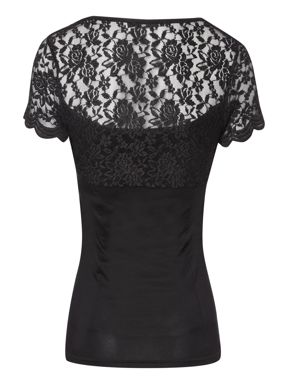 Lace shrug short sleeve top
