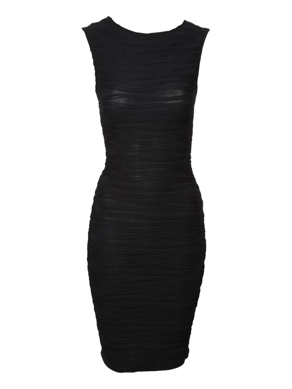 Ripple wave bodycon dress