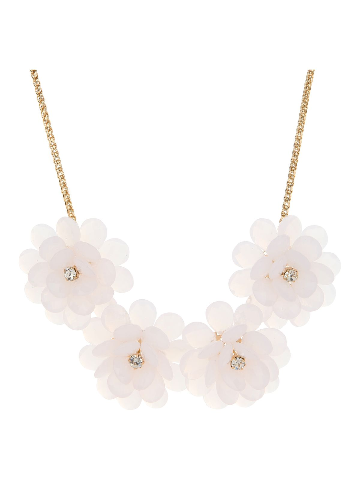 Statement beaded flower necklace