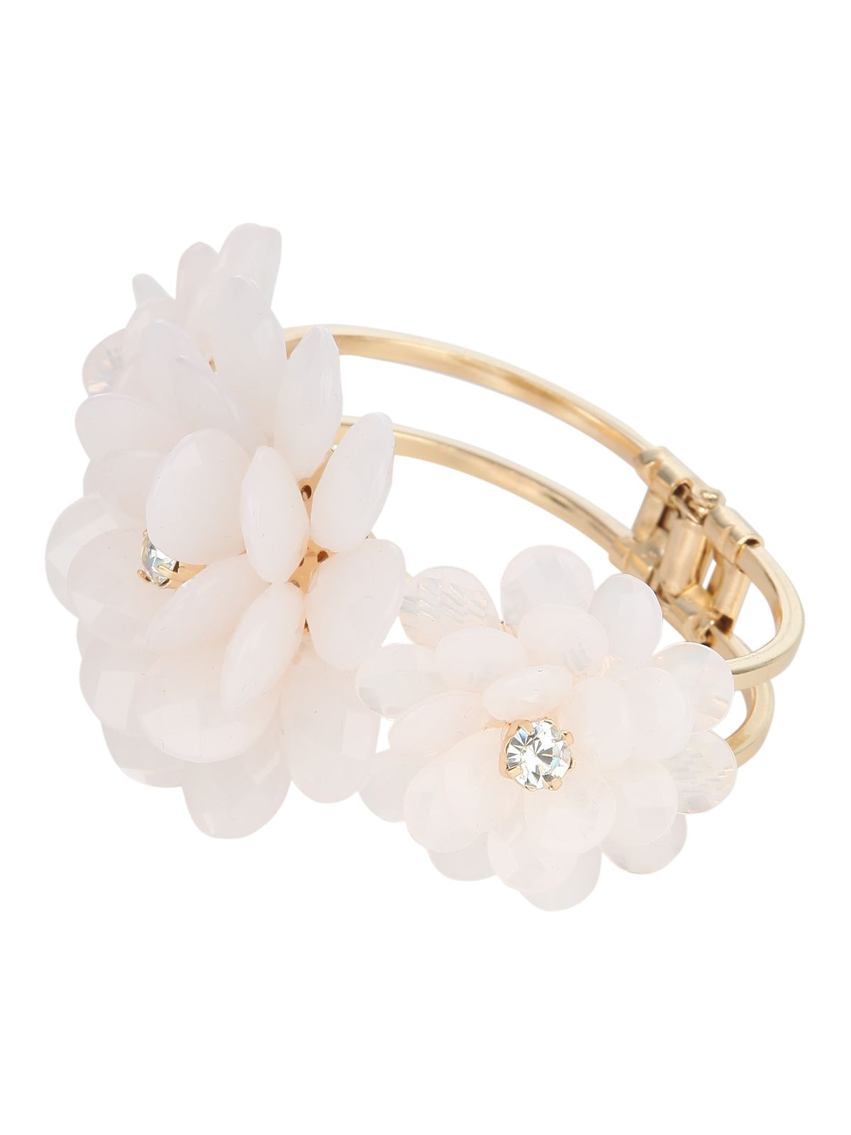 Statement Beaded Flower Bracelet
