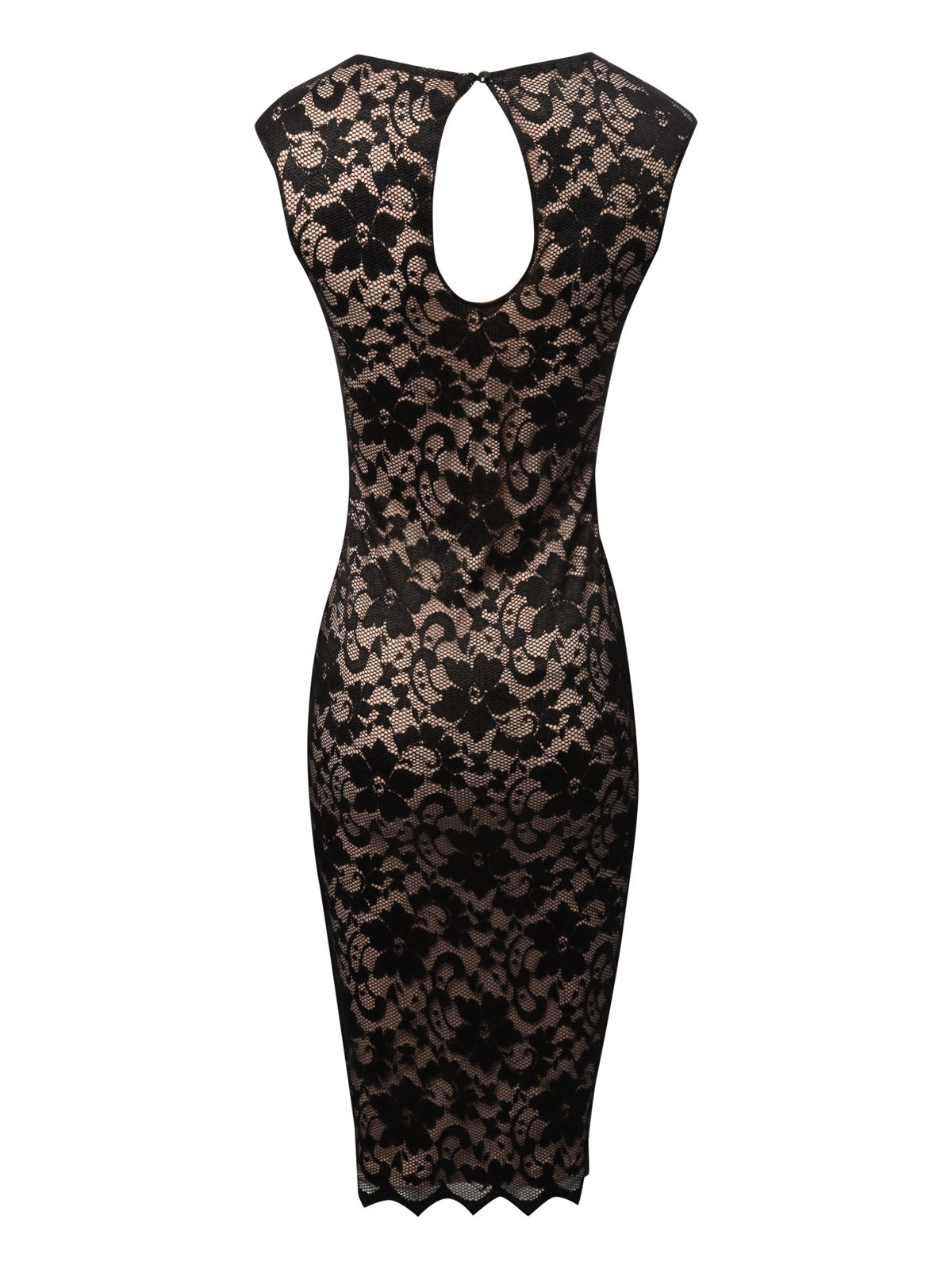 Lace bodycon midi dress