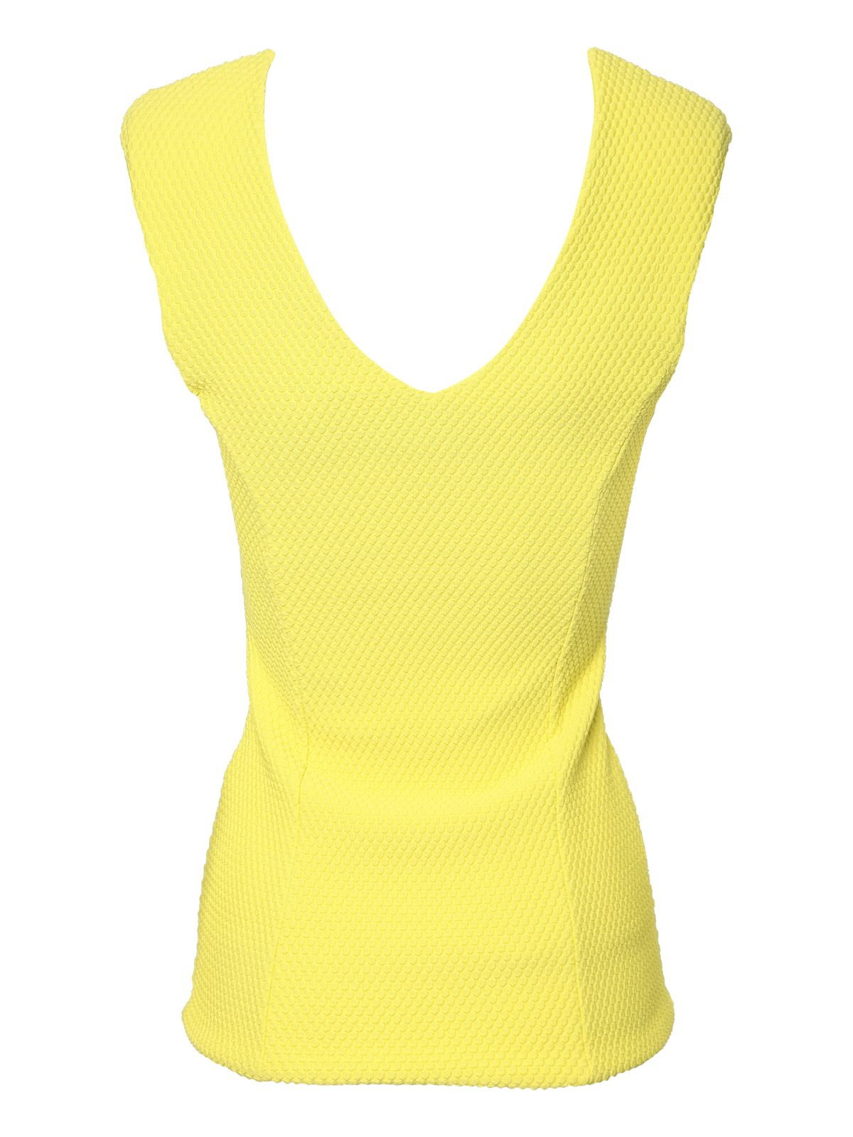 Textured sleeveless vest top