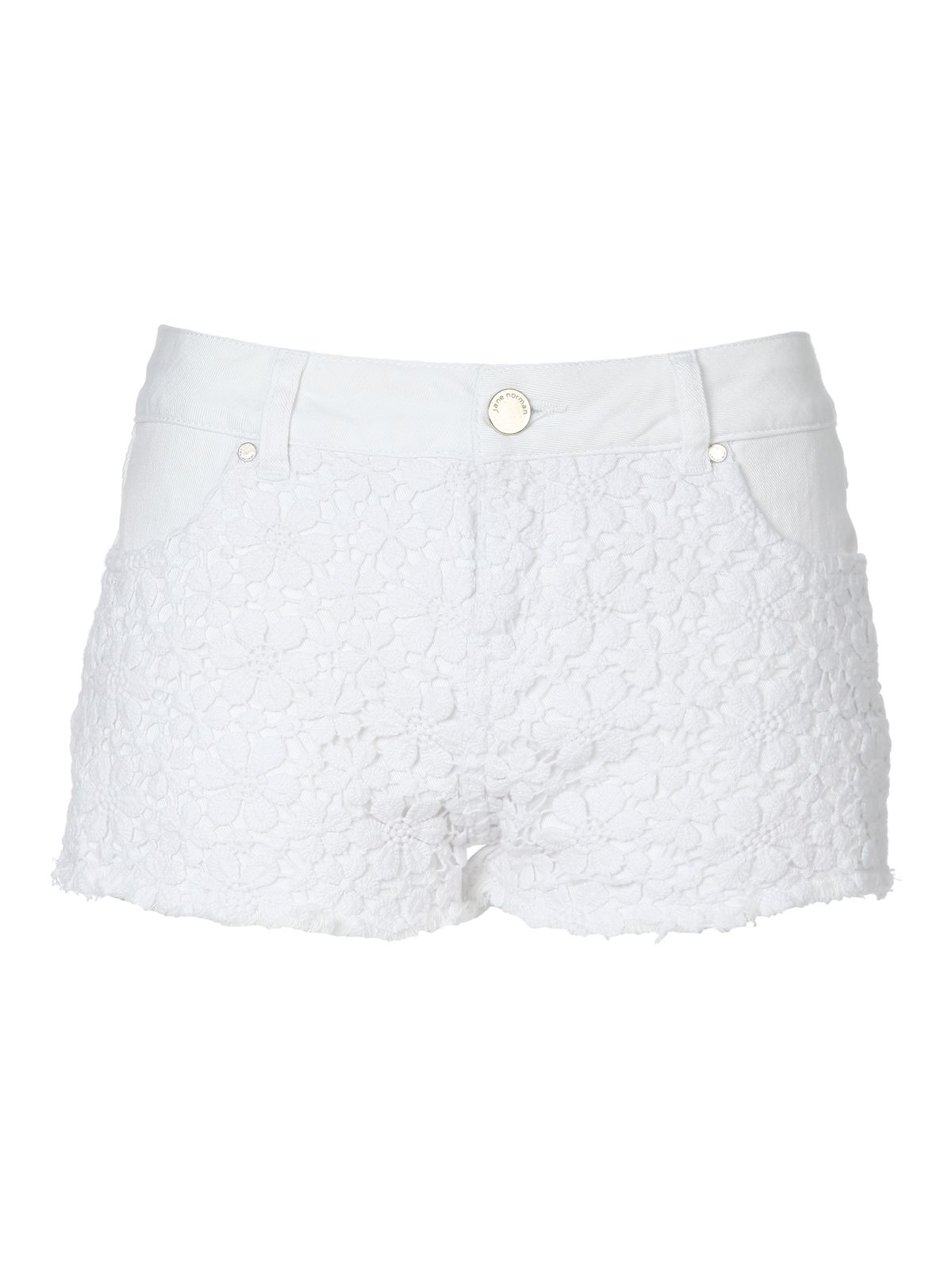 Crochet Denim Hotpant Shorts