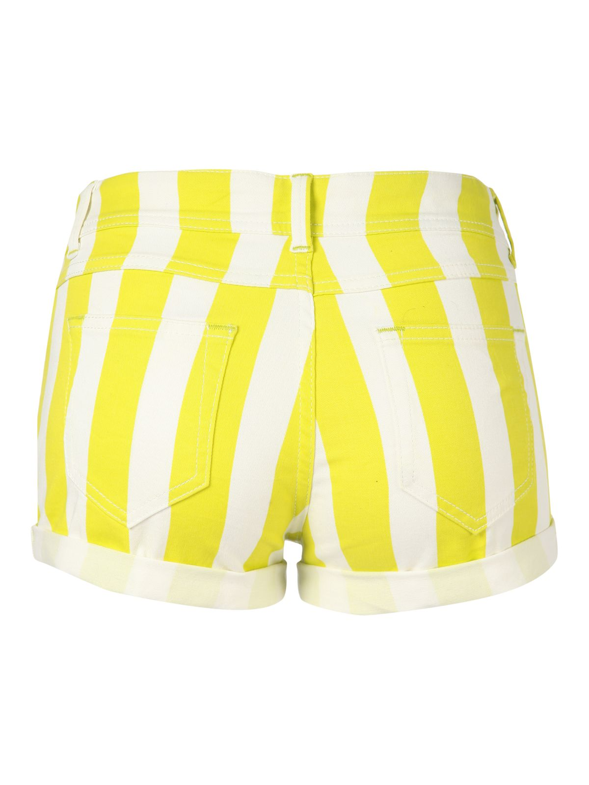Stripe denim hot pant shorts