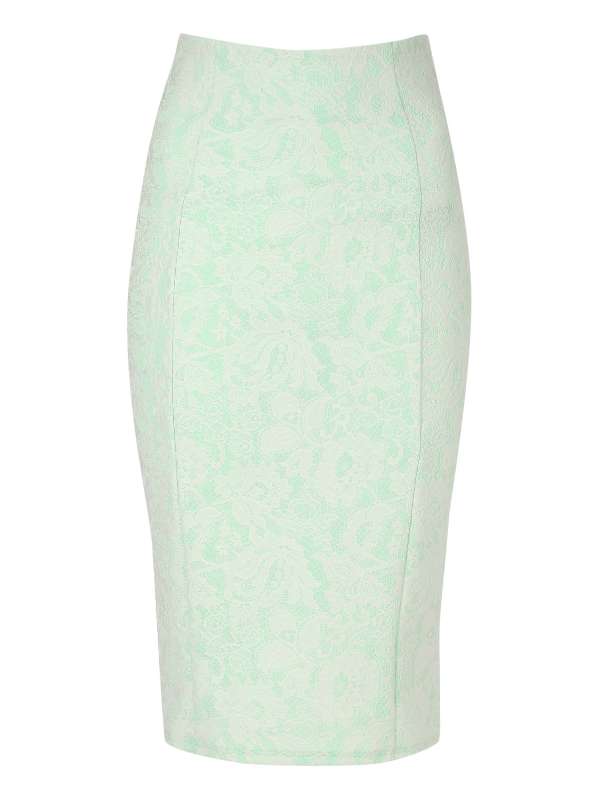 Lace overlay pencil skirt