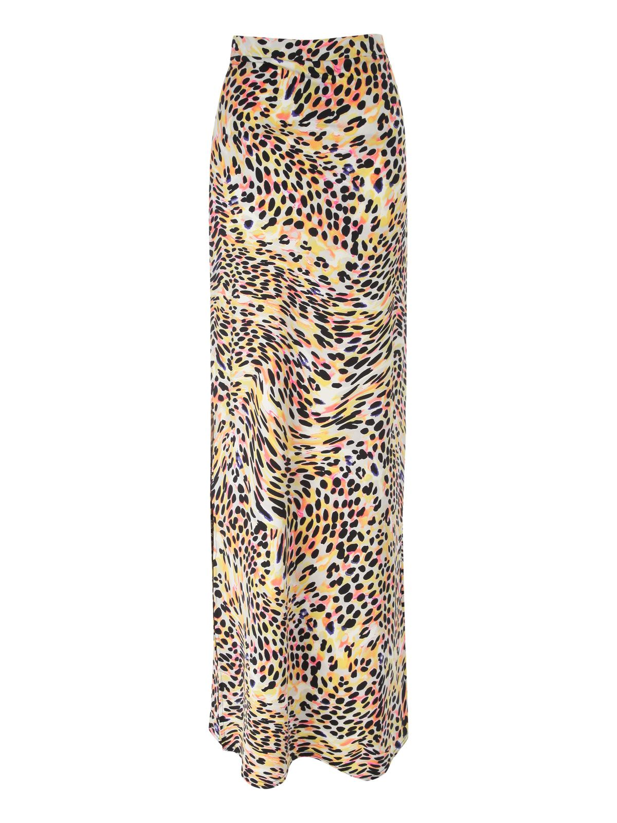 Animal print side split maxi skirt