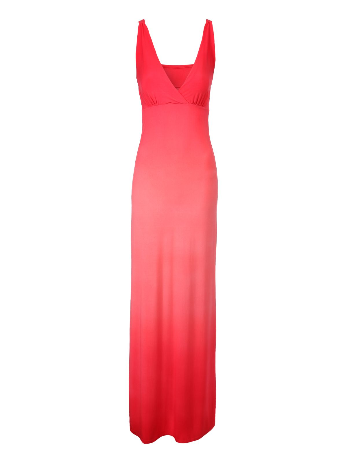 Sleeveless dip dye ombre maxi dress