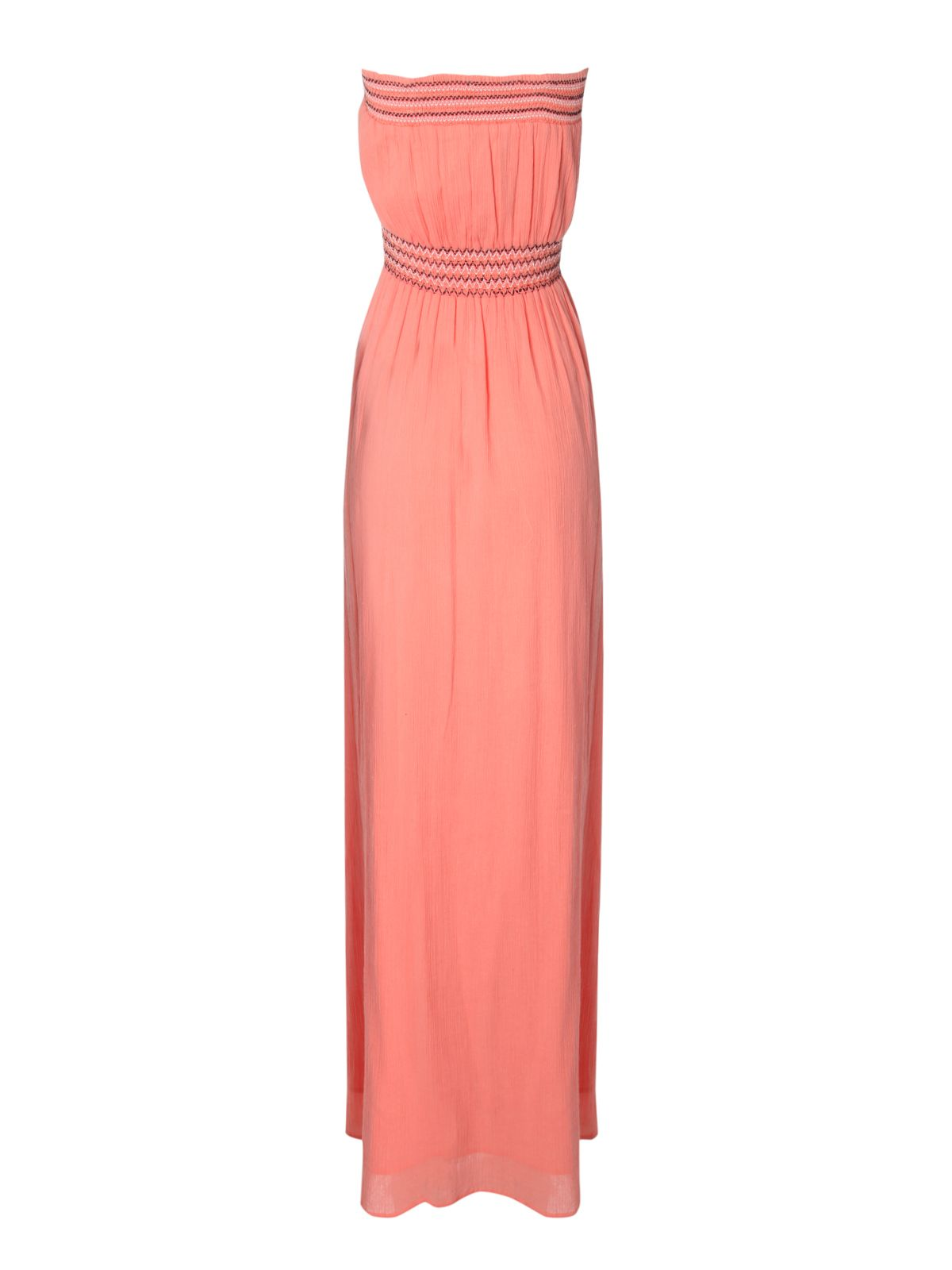 Sheered Bust Maxi Dress