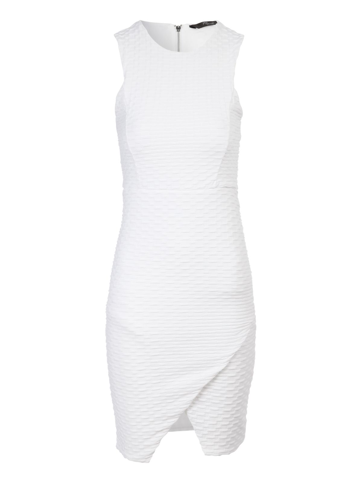 Asymmetric textured dress