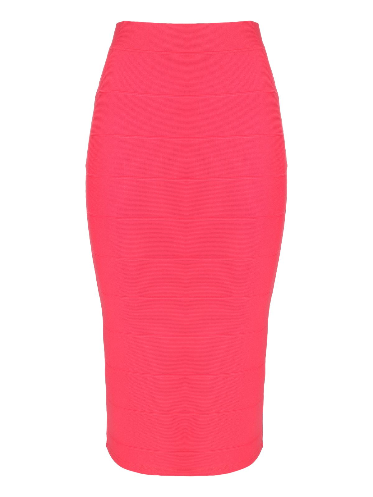 High waist bandage pencil skirt