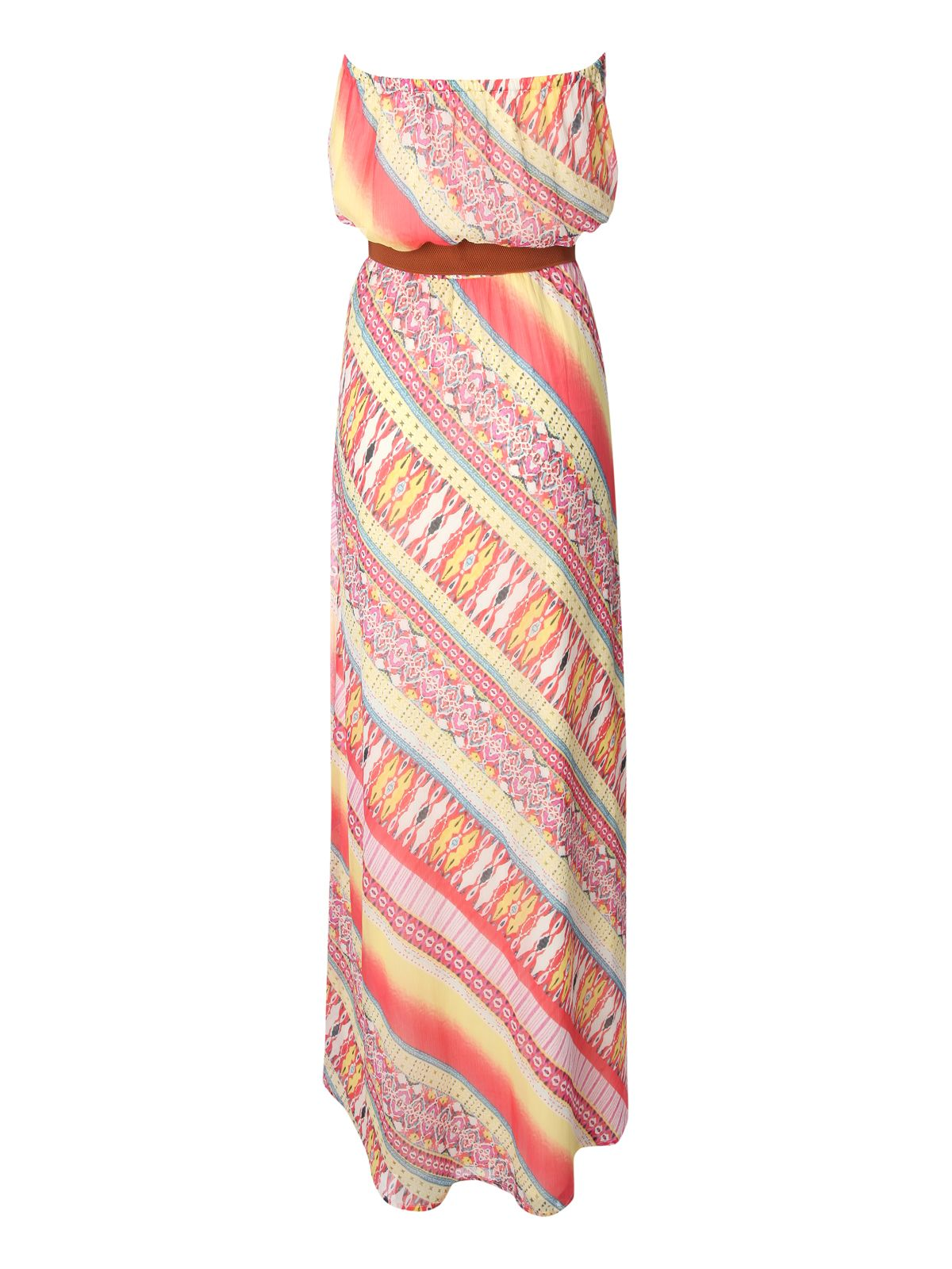 Printed bandeau maxi dress