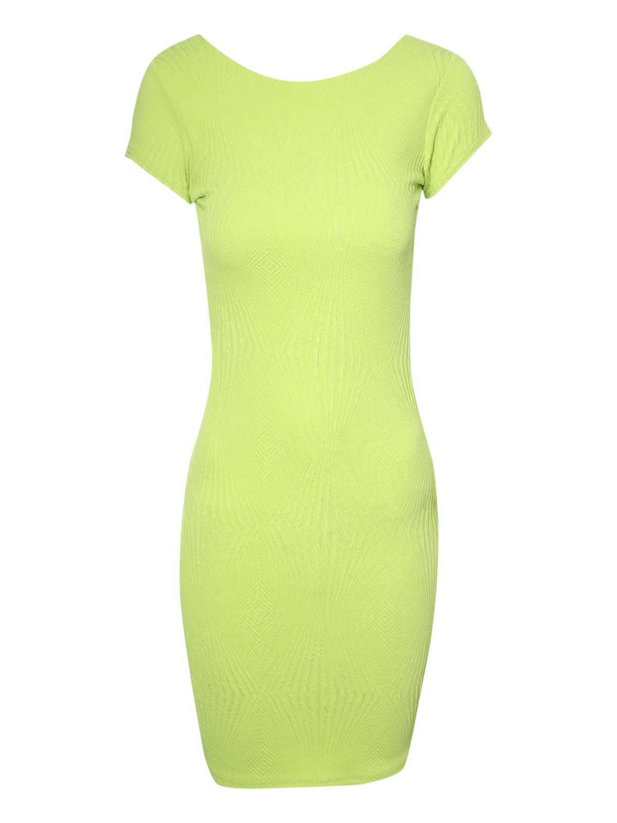 Graphic textured bodycon dress