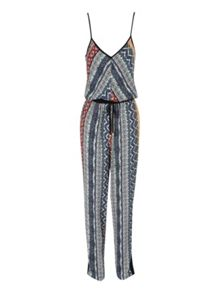 Tribal Stripe Print Jumpsuit
