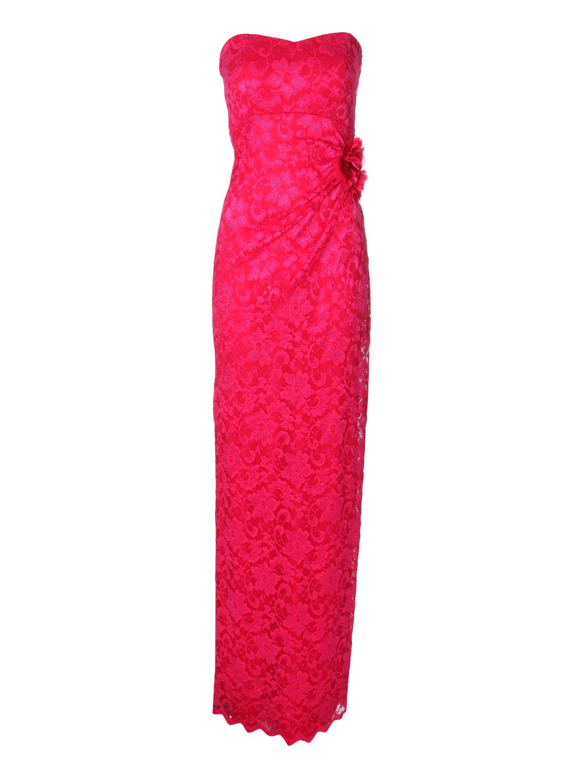 Lace bandeau corsage maxi dress