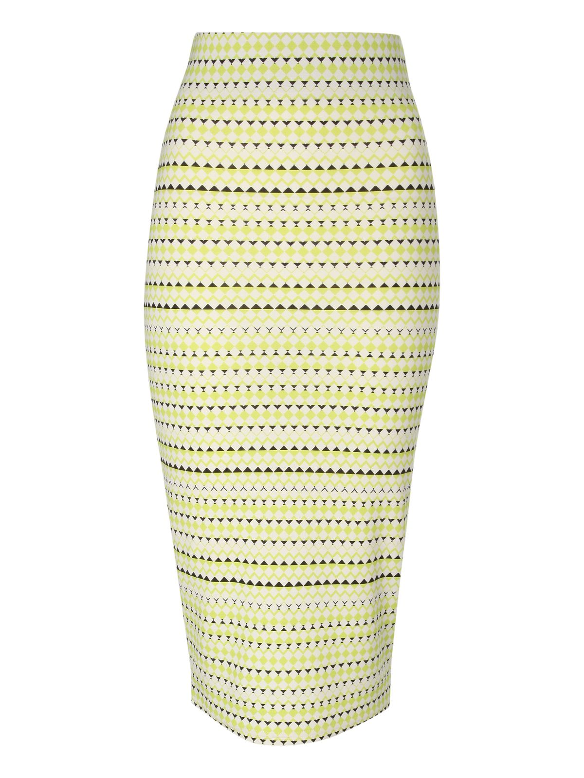 Printed pencil skirt