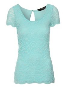 Lace scalloped t-shirt