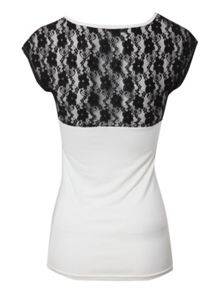 Lace Back Paris T-shirt