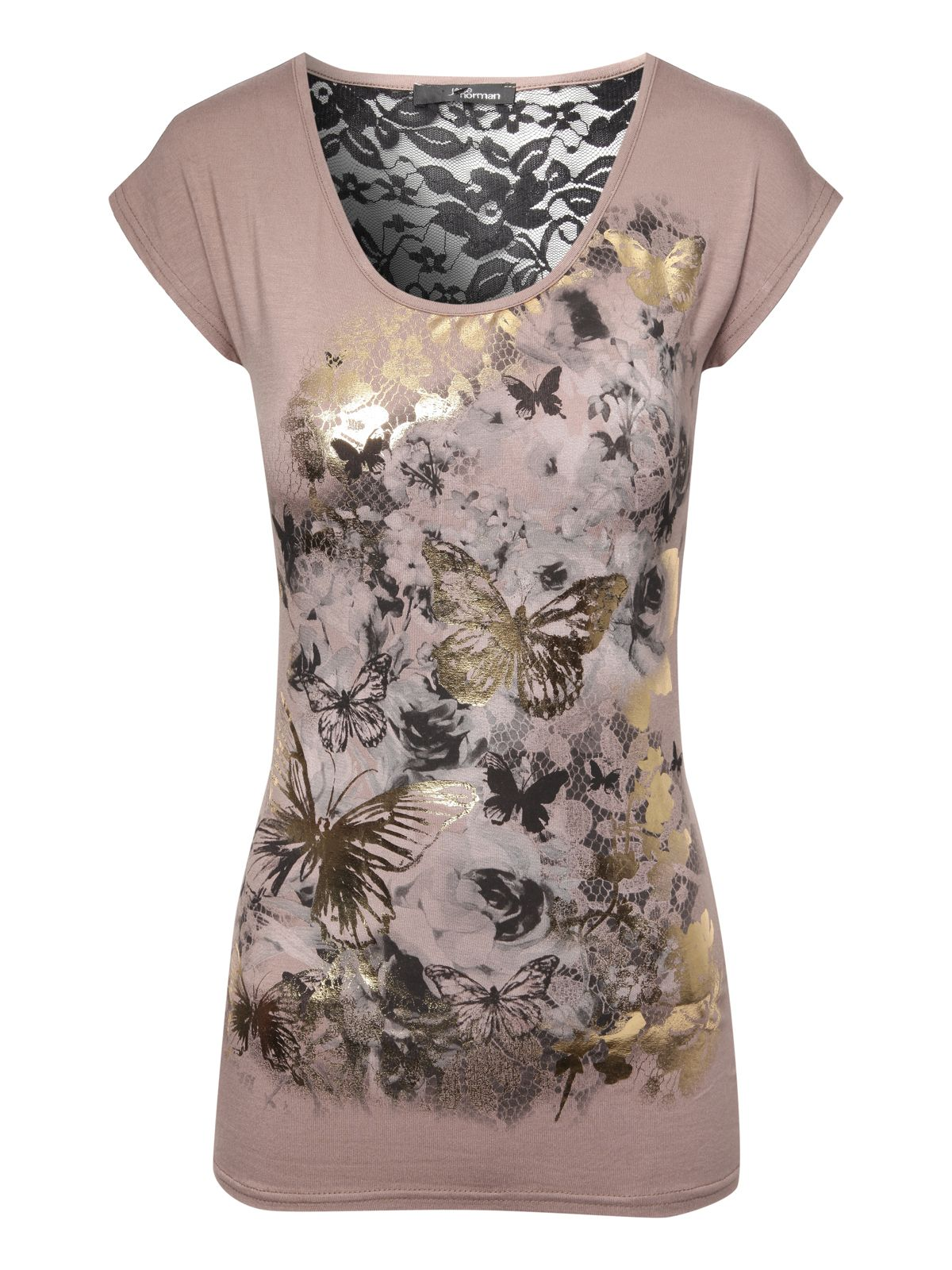 Butterfly Lace back T-shirt