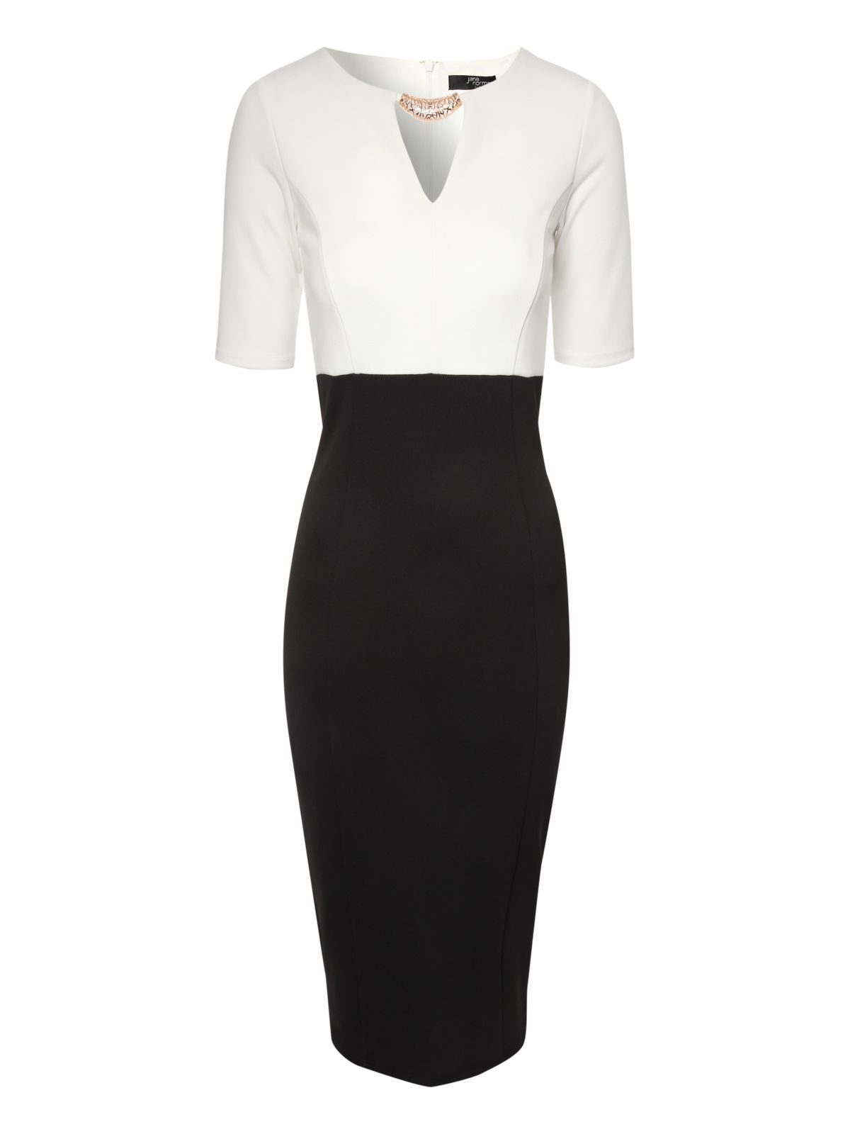 Monochrome Pencil dress