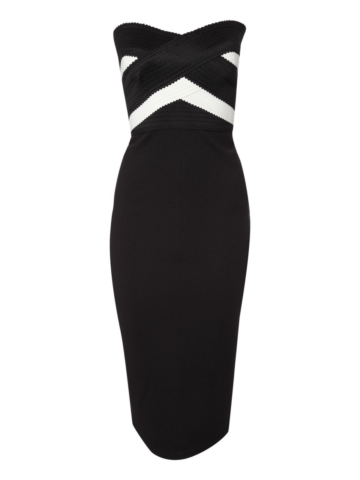 Monochrome Bandage Bandeau Dress