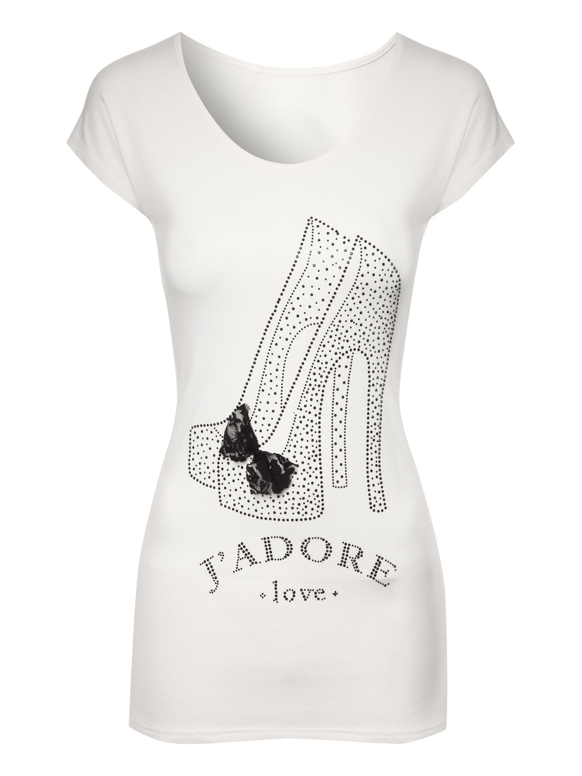 Embellished Shoe T-shirt