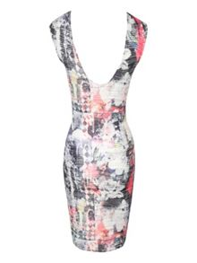 Floral Mix Bodycon Dress