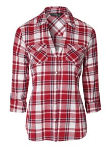 Fitted checked shirt