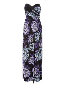 Jane Norman Floral Bandeau Maxi Dress