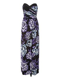 Floral Bandeau Maxi Dress