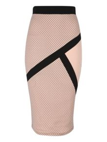 Polkadot Pencil skirt